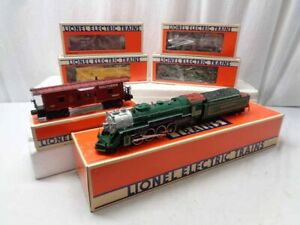 ✅LIONEL SOUTHERN CRESCENT MIKADO STEAM ENGINE 5 FREIGHT CARS FARR #4 SET 6-8309!