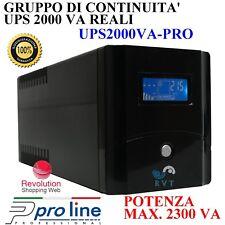 UPS 2000VA Gruppo Di Continuità FILTRO TELEFONO LCD UPS TELECAMERE PC PELLET