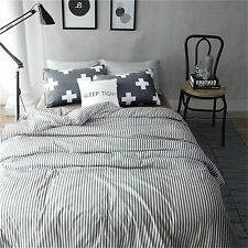 Vougemarket 3 Piece Duvet Cover Set Hotel Quality 100% Cotton (King, Style 5)