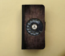 Rotary phone retro iPhone wallet Samsung wallet case flip case funny gift idea