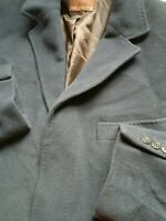 Mens M&S Collezione Blue Winter Wool Blend Formal Office Overcoat 38/40 M Medium