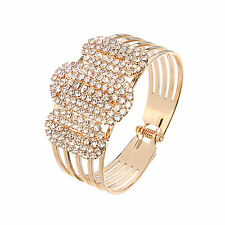 Crystal Gold Plated Bangle Bracelet gift party for women
