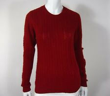 Kenar Long Sleeve 100% Cashmere Cabled Sweater Size L Red