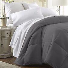 ienjoy Home IEH-COMFORTER-QUEEN-GRAY Plush Comforter, Queen - Gray