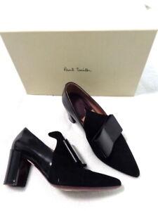 Paul Smith UK4/37 Black suede  Belvoir block heel shoes fabulous