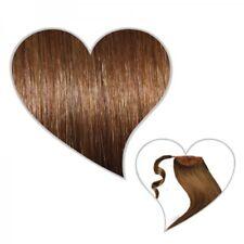 queue de cheval Postiche 50 cm marron doré #07 Cheveux véritables REMY