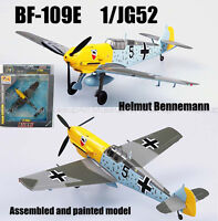 Easy model WWII German me-109 Bf-109E JG52 Bennemann 1/72 non diecast plane