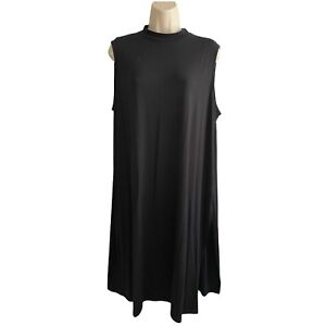"Eileen Fisher - Size L -Tencel Lyocell / Spandex -Black Long Tunic w/ 18"" Slits"