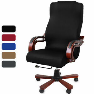 Elastic Velvet Office Chair Cover Fabric Computer Rotating Chair Protector |Home