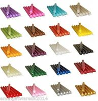 x12 Dinner Candles 21cm. 8 Hours Burning Time Bistro Style Assorted Colours