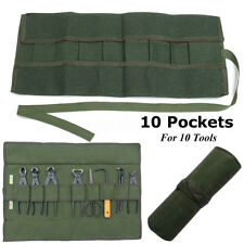 10 Pocket Canvas Spanner Wrench Tool Organizer Holder Roll Storage Bag 600*430MM