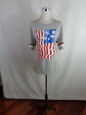 New listing Hybrid Women'S American-Usa Flag Shirt Sz 3X Gray.