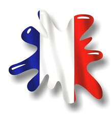 Retro old school splat & france french pays drapeau vinyle autocollant voiture décalque