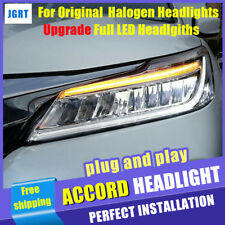 2016-17 For Honda Accord Headlights Original Halogen lamp Upgrade Full LED lamp