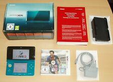 Nintendo 3Ds Konsole Aqua Blue Set in Ovp + Spiel und Zubehör