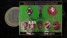 Borussia Mönchengladbach Uefa Pokal 75 Pin Badge Köln Enschede schwarz grün
