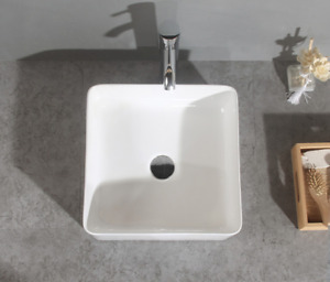 Modern Ceramic Bathroom Sink Hand Wash Basin White Gloss Ceramic Gloss Vanity UK