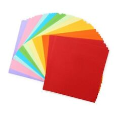 100 Sheets 10 Colors Set Double Sided Folding Origami Paper Arts Crafts 6x6 Inch