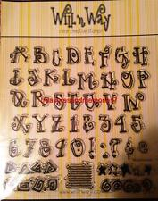 WILL N WAY Clear Stamps ALPHABET STARS and STRIPES 47 Stamps