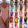 Womens Swimming One Piece Swimsuit Swimwear Monokini Bikini Push Up Bra Bathing