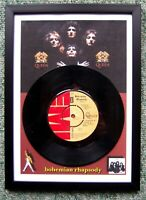 "Queen - Bohemian Rhapsody - 7"" Vinyl Single Record framed **FREE UK POST**"