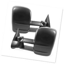 Manual Towing Mirrors Pair For 99-06 GMC Chevy Pickup Telescoping None-Heated