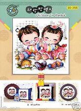 """The children of Korean Traditional Costume"" Cross stitch chart. SODA SO-3105"