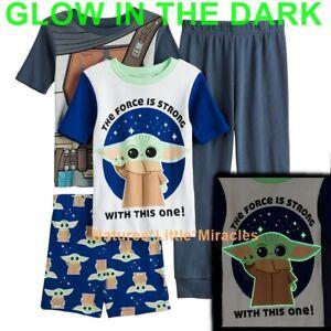 Baby Yoda Boys Pajamas Size 6 8 10 12 Mandalorian Star Wars Girl 100% Cotton NWT