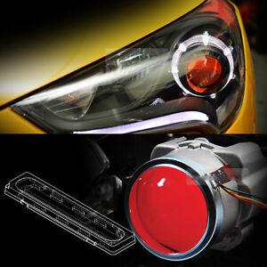 Devil Eye Head Light Lamp Projector Lens Red Color Power LED Module For KIA Car