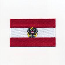 40 x 25 mm Österreich Flagge + Adler Austria Flag Wien Aufnäher Aufbügler 0949 A