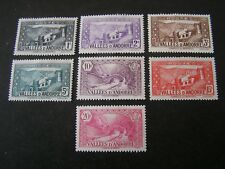 ANDORRA, FRENCH ADMINISTRATION, SCOTT # 23-29(7), 1932-42 PICTORIAL ISSUE MH
