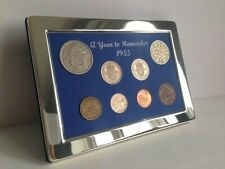 More details for 66th birthday anniversary retirement gift -luxury 1955 coin year set -gift boxed