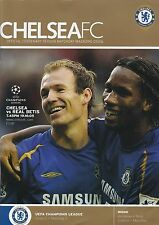 Football Programme CHELSEA v REAL BETIS Oct 2005 Champions League
