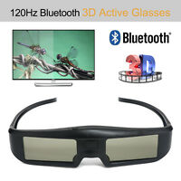 120Hz 3D Blue-tooth Active Shutter Glasses USB Chargeable Black For Sony