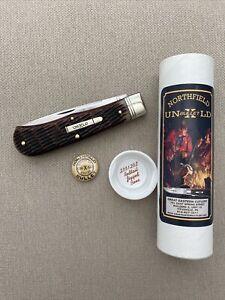 GEC #23 Pioneer Trapper Northfield UN-X-LD Redtail Jigged Bone Linerlock 235120L
