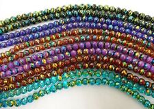Fancy Coated Glass Beads Metallic Colorful Shine 4mm 6mm Round Gold Unique color