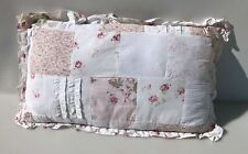 """Simply Shabby Chic Decorative Pillow Patchwork Pink Rose  24"""" x 14"""""""