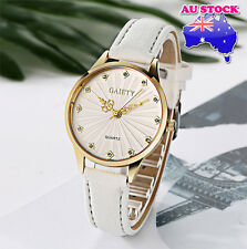 Wholesale White Leather Crystal White Dial Quartz Watch Women Lady Wrist Watch