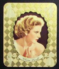 Elissa Landi 1934 Garbaty Film Star Series 1 Embossed Cigarette Card #73