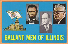 Illinois Political Postcard Lincoln Dirksen  Stevenson
