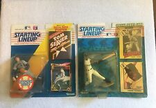 (4)ct Starting Line Up Lot Roger Clemens Tom Seaver Frank Thomas Kerry Collins