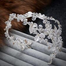 Sliver Bridal Headpiece Crystal Hair Halo Rhinestone Wedding Vine Headdress 1 PC