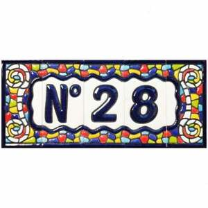 Spanish Church Hand-painted Ceramic Tiles For House Numbers, Letters and Frames