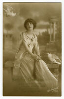1910s Young Lady NEO-CLASSIAL BEAUTY Greek Roman glamour glamor photo postcard