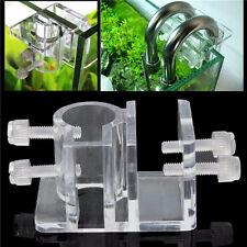 Clear Acrylic Aquarium Fish Tank Water Pipe Hose Clip Tube Clamp Holder 12-16mm