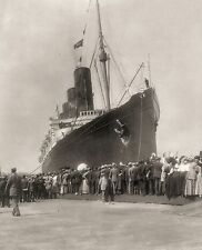 RMS Lusitania New York 1907 Cunard Line Ocean Liner Travel Photo Print Picture