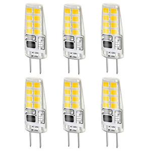 LEKE G8 Bulb Warm White 3W G8 LED Bulb Equivalent to G8 Halogen Bulb 20W-25W G8
