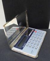 Calcolatrice Solare in Argento 800 NUOVA degli Anni 70/80 - Con custodia