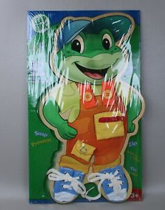 Leap Frog Tad's Busy Board Wood Puzzle Grown with me Preschool Learning Tie Zip