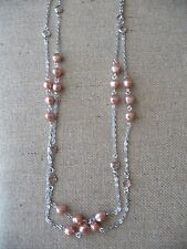 Lia Sophia Sparkling Rose Necklace 60-63""